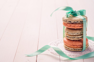 French desserts Macaron with space for text
