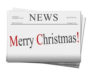 Merry Christmas  newspapers