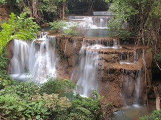 Beautiful Waterfall in Srinakarin Dam National Park , Thailand