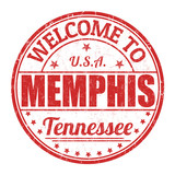 Welcome to Memphis stamp poster