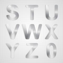 Vector Metal Alphabet Set.