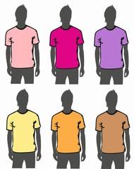 Figure T-Shirts 6 color pack