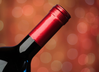 Red Wine Lights Background