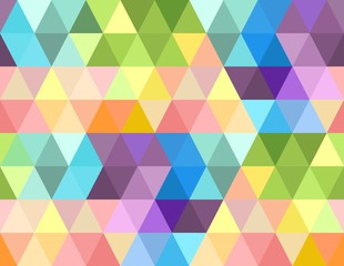 vector seamless pattern with varicolored triangles