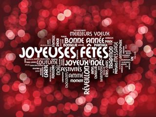 """Nuage de Tags """"JOYEUSES FETES"""" (joyeux noël bonne année fêtes)"""