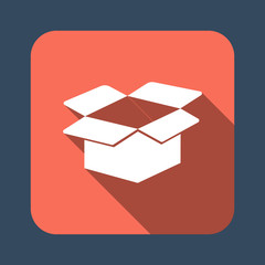 cardboard box open vector icon