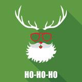 Fototapety Christmas Retro Santa Card - in vector