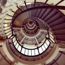 escalier au phare Ponce de Leon