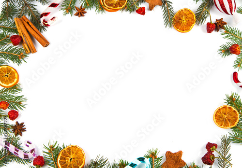 canvas print picture christmas decoration on white background