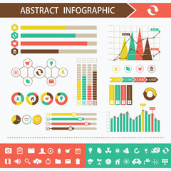 Infographic design elements. Presentation page