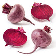 Fresh beetroot isolated on white background. Collection