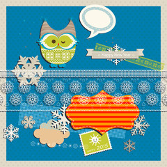 winter scrapbook template