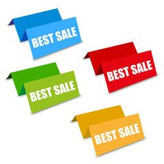 four color best sale spatial tags vector
