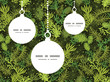 Vector evergreen christmas tree Christmas ornaments silhouettes - 72894072