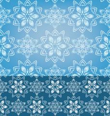 Geometric Snowflakes Seamless pattern background