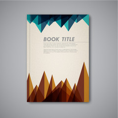 Retro Vector abstract brochure design template