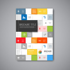 Modern Vector abstract brochure design template
