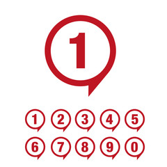 Numbers set. Vector illustration.