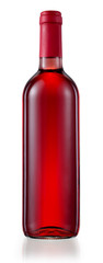 Red wine bottle isolated. With clipping path
