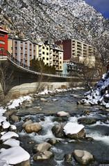 River Gran Valira in Santa Coloma. Andorra