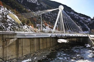 Madrid bridge over the river Gran Valira in Santa Coloma