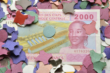 Franco CFA Franc CFA-Franc-Zone Франк КФА Africa money