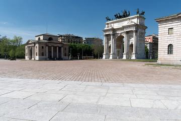 Milano - Arco della Pace e Corso Sempione