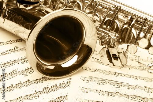 saxophone detail - 72896452