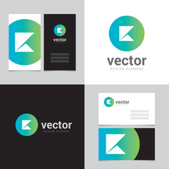 Design element with two business cards - 11
