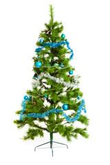 Christmas tree.  Isolated decorated christmas tree