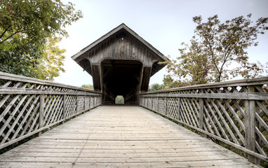 Wooden Covered Bridge