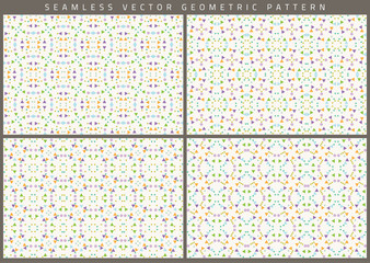 Vector set of eight seamless patterns.