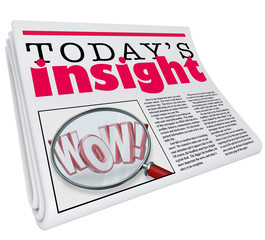 Today's Insight Newspaper Headline Information Update Analysis