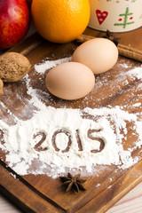 The inscription on the flour - 2015