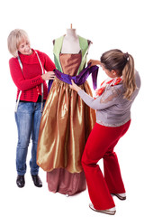 Seamstresses Working on a dress