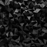 Displaced 3d triangular background poster