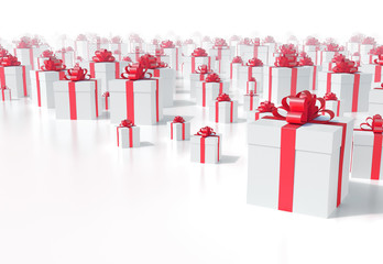 Christmas presents background - high quality 3D render