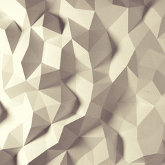 Abstract vintage faceted geometric paper background