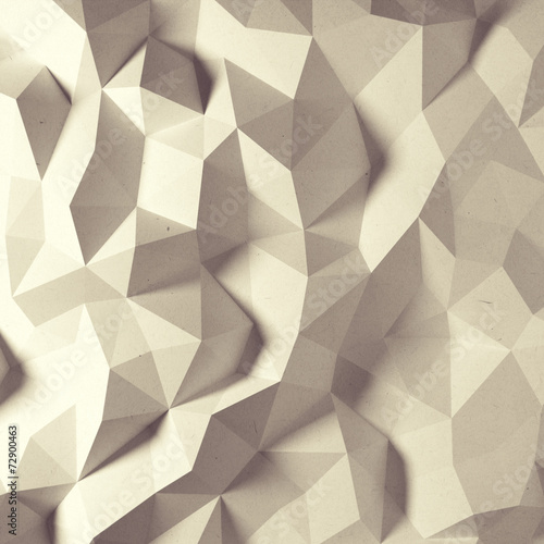 Fotobehang 3d Achtergrond Abstract vintage faceted geometric paper background