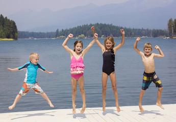 Kids having fun on their summer vacation
