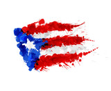 Fototapety Flag of  Puerto Rico made of colorful splashes