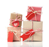 Stack of handcraft gift boxes