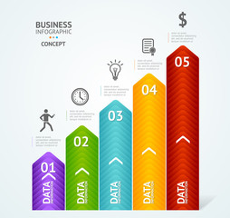 Step by step to success infographics illustration