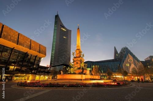 Leipzig Augustusplatz Nacht - Leipzig Augustussquare night 02 - 72903235