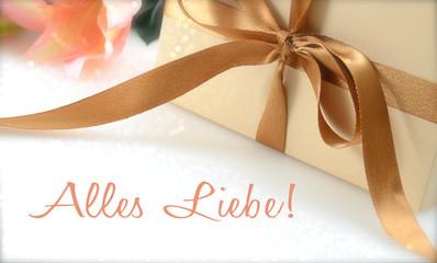 Geschenkbox/ Alles Liebe!