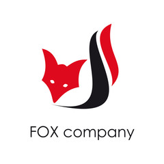 Vector sign Fox. Concept of cunning