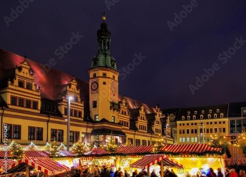 Leinwanddruck Bild Leipzig Weihnachtsmarkt - Leipzig christmas market 06