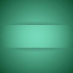 Abstract green paper with shadow background