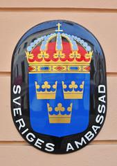 Sweden embassy sign