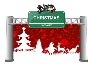 Christmas is coming sign